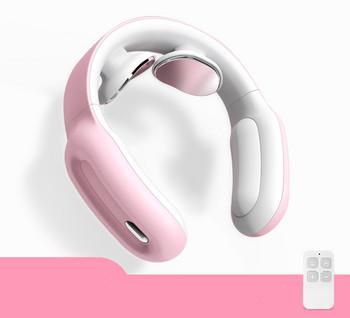 Συσκευή μασάζ κατάλληλη για το λαιμό και ώμους με τηλεχειριστήριο