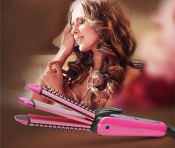 Ηλεκτρικό σίδερο για μπούκλες και ίσιωμα μαλλιών με αρνητικά ιόντα