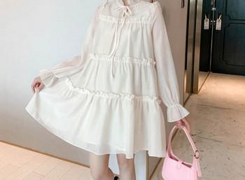 Κομψό γυναικείο κοντό φόρεμα με κορδόνια για έγκυες γυναίκες