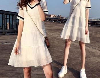 Γυναικείο casual φόρεμα με κοντά μανίκια για έγκυες γυναίκες