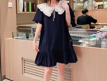 Κομψό γυναικείο φόρεμα με κορδόνια κοντό μοντέλο για έγκυες γυναίκες