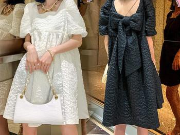 Κομψό γυναικείο φόρεμα φαρδύ μοντέλο για έγκυες γυναίκες
