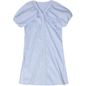 Κομψό φόρεμα απλό μοντέλο με ντεκολτέ  για έγκυες γυναίκες