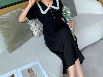 Μοντέρνο  γυναικείο φόρεμα με κουμπιά  για εγκύους
