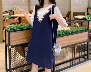 Κομψό κοντό φόρεμα για εγκύους