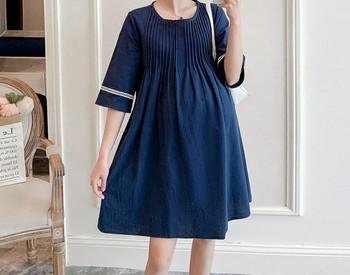 Μοντέρνο φόρεμα κλαικό μοντέλο για έγκυες γυναίκες