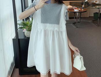 Casual φαρδύ φόρεμα με οβάλ λαιμόκοψη για εγκύους