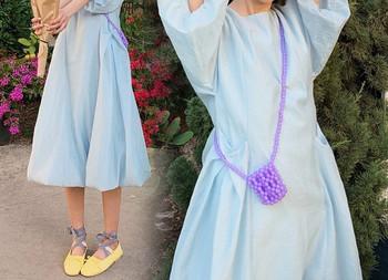 Casual μακρύ φόρεμα κλασικό μοντέλο για έγκυες γυναίκες
