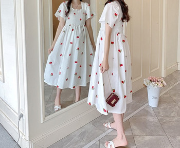 Μοντέρνο κομμένο μακρύ φόρεμα για έγκυες γυναίκες