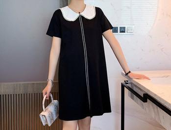 Κομψό φόρεμα με κοντό μανίκι για έγκυες γυναίκες