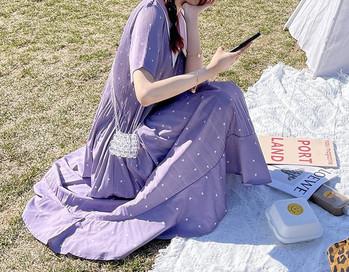 Κομψό μακρύ φόρεμα για εγκύους