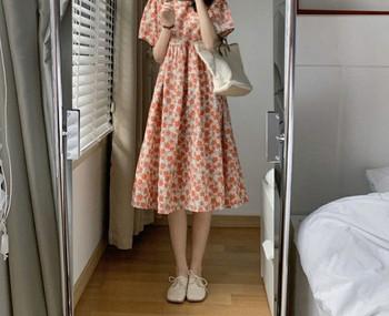 Κομψό φόρεμα με οβάλ λαιμόκοψη για εγκύους
