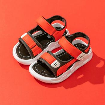 Детски сандали с велкро лепенка и равна подметка-за момчета