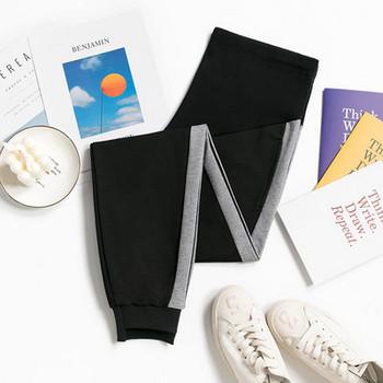 Μοντέρνο αθλητικό παντελόνι με μπορντούρα για έγκυες γυναίκες
