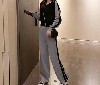 Μοντέρνα γυναικεία αθλητικά παντελόνια και μπλούζα για έγκυες γυναίκες