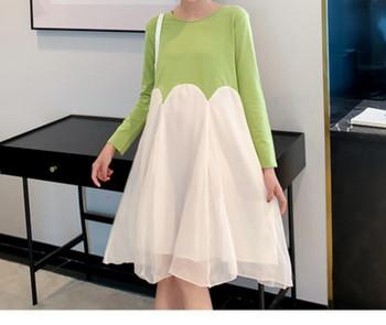Γυναικείο casual φόρεμα με μακριά μανίκια για έγκυες γυναίκες