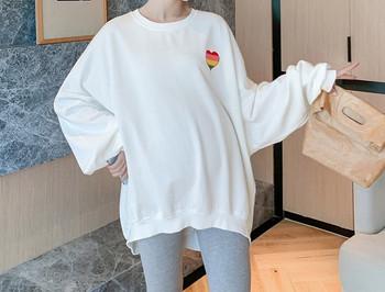 Γυναικείο ενημερωμένο σετ μπλούζας και κολάν για έγκυες γυναίκες
