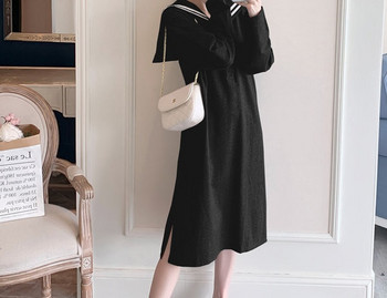 Γυναικείο casual φόρεμα με κουμπιά ίσιο μοντέλο για έγκυες γυναίκες