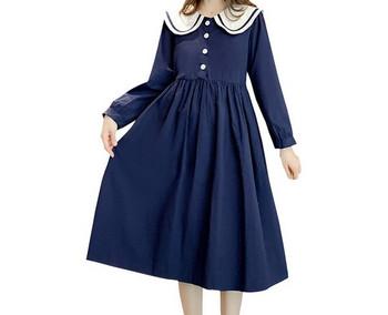 Μοντέρνο γυναικείο φόρεμα με κουμπιά για έγκυες γυναίκες