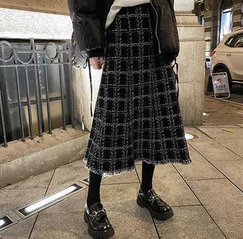 Γυναικείο καρό μοντέλο φούστα για εγκύους