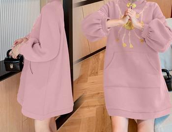 Κομψό γυναικείο φόρεμα με τσέπη για έγκυες γυναίκες
