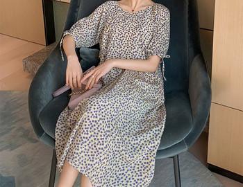Γυναικείο casual φόρεμα με λουλουδάτο μοτίβο για εγκύους