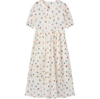 Γυναικείο φαρδύ μακρύ φόρεμα με λαιμόκοψη για εγκύους