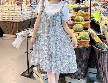 Γυναικείο κοντό φόρεμα με οβάλ ντεκολτέ για έγκυες γυναίκες