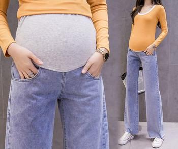 Γυναικείο τζιν φαρδιά μοντέλο για έγκυες γυναίκες