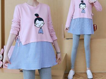 Γυναικεία μοντέρνα μπλούζα με απλικέ για έγκυες γυναίκες