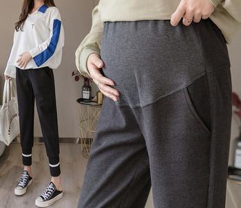Γυναικείο casual αθλητικό παντελόνι ίσιο μοντέλο για έγκυες γυναίκες