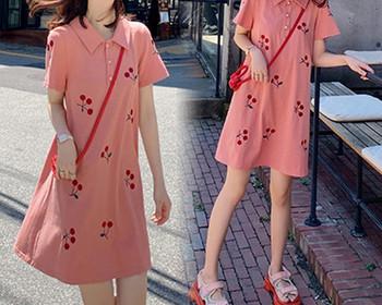 Γυναικείο μοντέρνο φόρεμα με κουμπιά για έγκυες γυναίκες