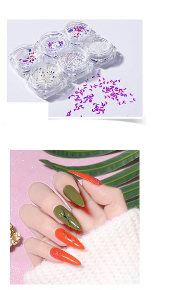 Σετ από 6 φύλλα για διακόσμηση μανικιούρ