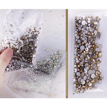Διακοσμητικές πέτρες για μανικιούρ σε διάφορα χρώματα