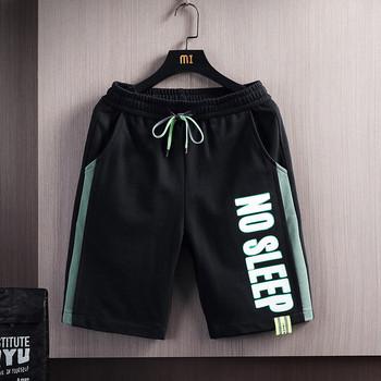 Нов модел мъжки къси панталони с ластична талия и надпис