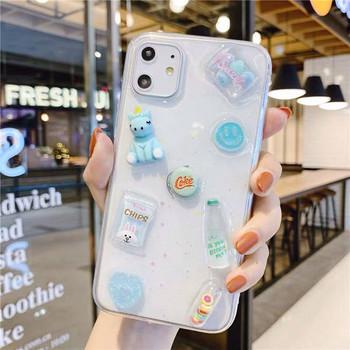 Силиконов калъф за iPhone 11 с 3D елементи
