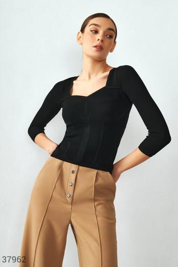 Пуловер от трикотаж