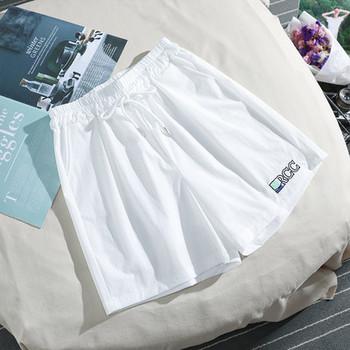 Дамски ежедневни къси панталони с връзки и бродерия