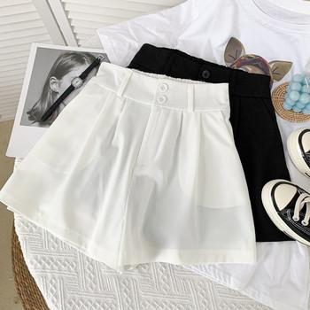 Нов модел къси дамски панталони -с джобове и висока талия