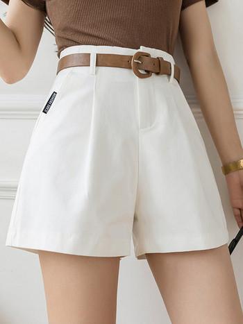 Къси дамски панталони с колан
