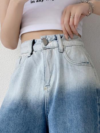 Нов модел къси дънки в преливащ цвят