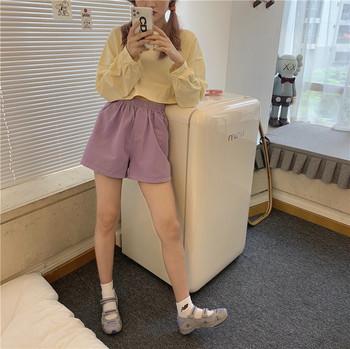 Дамски спортни къси панталони изчистен модел