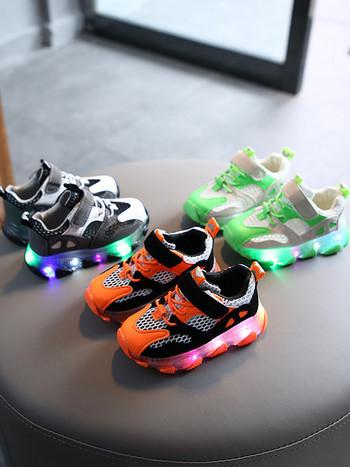 Детски маратонки със светеща подметка - за момичета и момчета