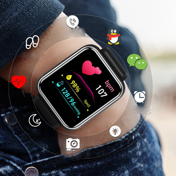 Смарт часовник със силиконова каишка - съвместим с Huawei / Apple / Android