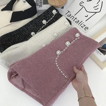 Къси дамски панталони  декорация перли и камъни