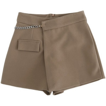 Нов модел пола-панталон с цип и висока талия