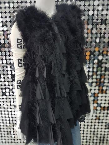 Дамски елек от естествен косъм от Турски Μeleagris